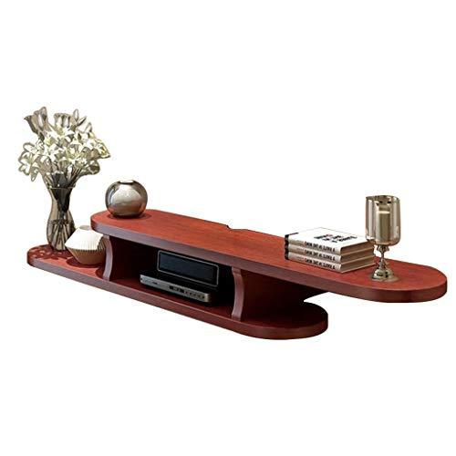 TLMY Mueble de madera para TV de entretenimiento, montaje en pared, soporte de televisión, estante flotante para taquilla (color: B)