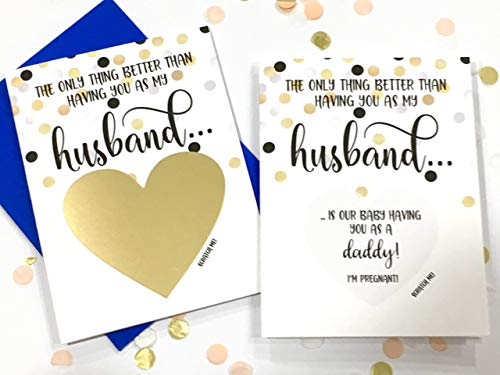 Pregnancy Scratch Off Card for Husband Baby Reveal