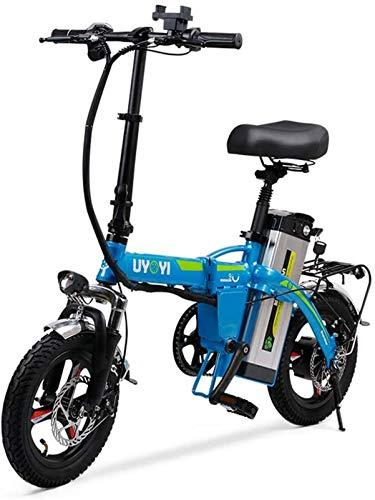 Bicicleta eléctrica plegable Bicicleta plegable ligera Asistencia de pedal Bicicleta eléctrica 400 W Motor silencioso Bicicleta eléctrica Portátil Fácil de almacenar en caravana Casa rodante para cicl