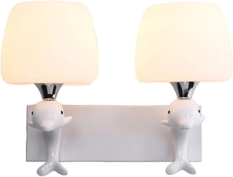 LLAS Kreative Wandleuchte LED Wandlampe Innen Art Deco für Bar Schlafzimmer Küche Restaurant Café Flur,B