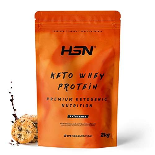 Keto Whey Protein | Aislado de Suero CFM + Aceite MCT de Coco + Enzimas Digestivas Digezyme | Grass-Fed | Apto Vegetariano, Sin Gluten, Sabor Chocolate-Galletas, 2 Kg