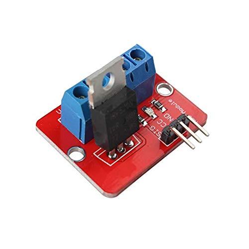 LF_FFa 1pc 0-24V Top Mosfet-Knopf IRF520 MOS-Treibermodul for Arduino MCU ARM Raspberry Pi PWM-Modul Output (Größe : 33.4 * 25.6MM)