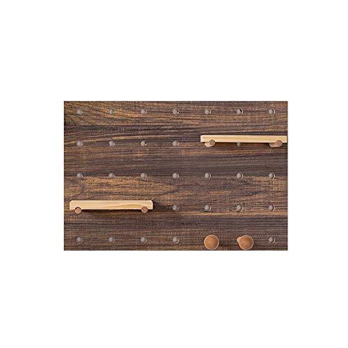 JCNFA Planken Zwevende Wandplank Elektrische Box Decoratie Plank Decoratieve Wandpoorten Rechthoek Wandplank Eenheid Verwijderbare Haken 37.5 * 56.25CM Teak Color