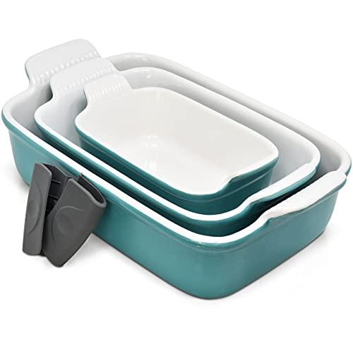 Ceramic Bakeware Set, Casserole Baking Dish Ceramic 3 Piece...