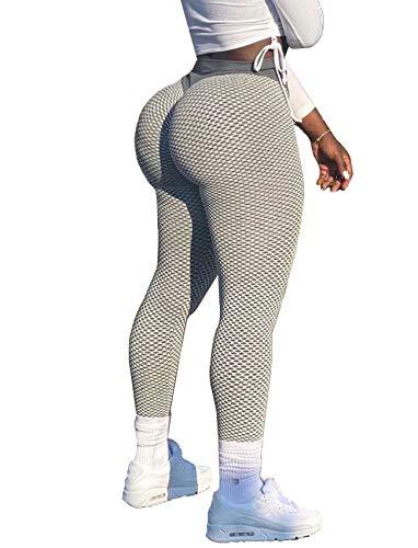 RIOJOY Women Scrunch Booty Yoga Leggings High Waist Tummy Control Pants Workout But Lift Tights