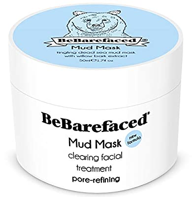 BeBarefaced Natural Vegan Face Mask - Blackhead and Acne Spot Treatment Facial Beauty Mask - Mud and Clay Anti Ageing Masque with Salicylic Acid for Men and Women