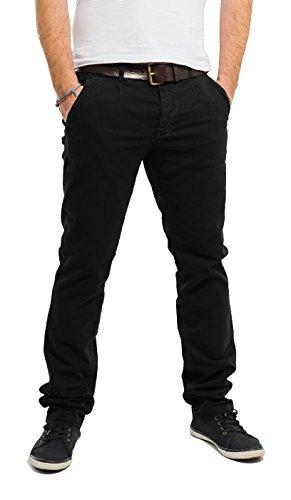 Banqert Herren Chino Hose-n Curepipes Männer Lange Slim-fit Freizeithose-n Pant-s aus zertifizierter Baumwolle, Herren-Hose Stoffhose-n, Schwarz-e Black 36-32
