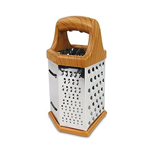 Rallador 6 Caras Acero Inoxidable Para Cortar Trituradoras Verduras y Frutas Para la Cocina Rallador Universal Fácil de Usar.