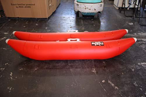サイドフロート ボート用 左右セット 1800G 釣り カヌー カヤック フィッシング(レッド)
