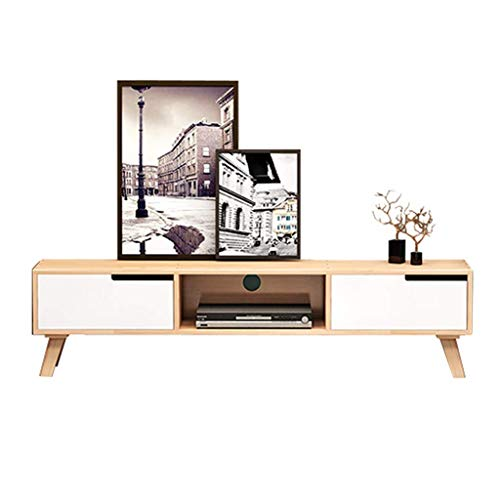 JPVGIA TV-Ständer Media Entertainment-Center Storage Console Cabinet Stand mit Schubladen und Open Storage Shelf TV-Konsole Medien Component TV-Ständer Side Cabinet TV Kabelbox Spielkonsolen