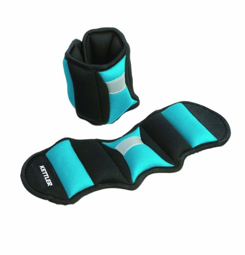 Kettler Manicotti con pesi per braccia o gambe (paio), Blu, 0,75 kg