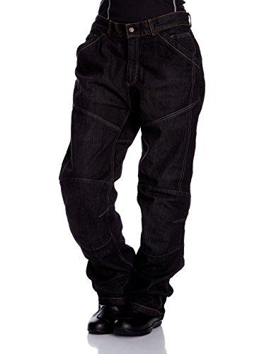 Roleff Racewear Motorradhose Kevlar Jeans, Schwarz, Größe 38