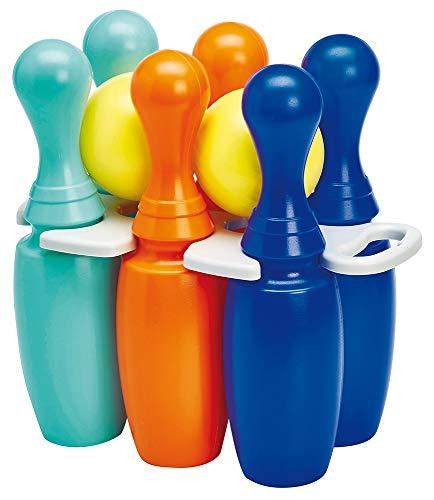 Jouets Ecoiffier- Bowling 6 quilles 23 cm – Jeu de Plein air pour Enfants – Dès 18 Mois – Fabriqué en France