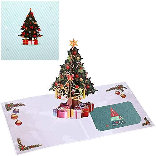Abbcoert Tarjetas de Navidad 3D, tarjetas de felicitación 3D, tarjetas de felicitación pop up con sobre para Navidad, vacaciones, regalo de Navidad