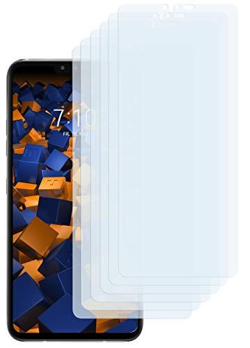 mumbi Schutzfolie kompatibel mit LG V40 ThinQ Folie klar, Bildschirmschutzfolie (6X)