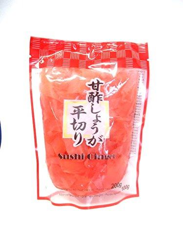 Sushi Ginger rosa, Eingelegte Ingwer 200g / ATG 100g