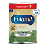 Enfamil ProSobee Soy-Based Infant Formula for Sensitive Tummies, Dairy-Free, Lactose-Free, Milk-Free, and DHA for Brain Support, Plant-Sourced Protein Concentrated Liquid Can, 13 Fl Oz (Pack of 12)
