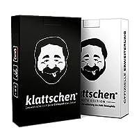🚀 DAS ULTIMATIVE SPIELE-DUO im attraktiven Doppelpack. 2 Kartenspiele = klattschen & klattschen WHITE EDITION - klattschen ist das meistverkaufte Karten-Trinkspiel in Deutschland - DER 'EISBRECHER' UND PARTYKNALLER für 2 - 10 Spieler ⚡ VIELE VERSCHIE...