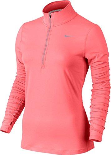 Nike - Element Half Zip - Top à manches longues - Femme - Rose - Taille: XL