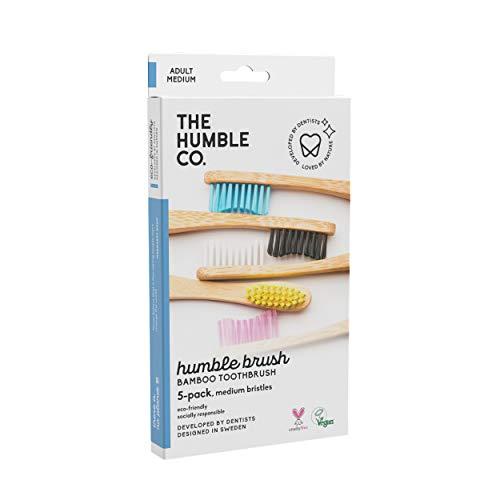 The Humble Co. Bamboe tandenborstel Family Pack (5-p) | Medium borstelharen | Biologisch afbreekbaar, milieuvriendelijk…