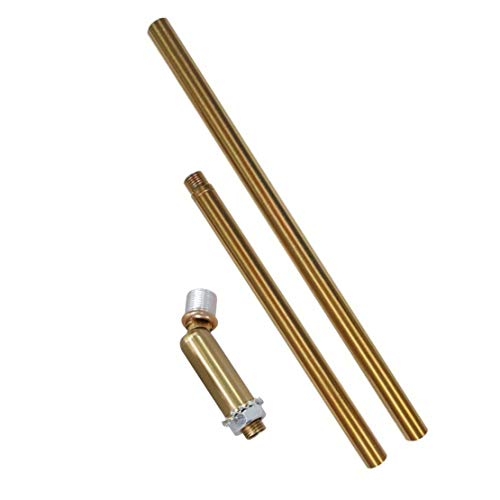 BOKT Downrod Extension Lamp Stem Pendant Light Extension Rod With Threaded Tube, Sloped Ceiling Adapter Kits for Ceiling Pendant Light, Suitable for Vaulted or Angled Ceilings (Brass)
