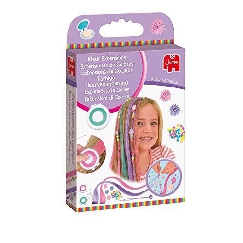 Jumbo Spiele - Activity Packs Farbige Haarverlängerung - Bastelset, Kreativspielzeug - Ab 5 Jahren - Art.-Nr. 70003