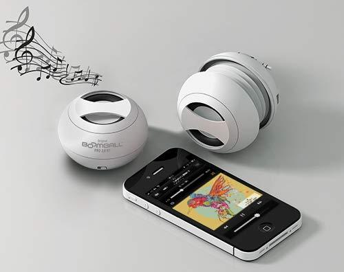 Original BoomBall PRO Bluetooth Mini-Lautsprecher, weiß