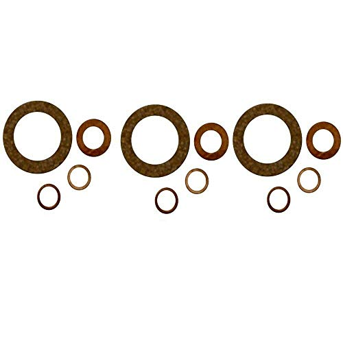 3 (Three) Aftermarket Fuel Injection Injector Seal Kits Replaces C5NE9F596A Ford 2000 3000 4000 5000 6000 7000 Tractor
