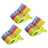 URAQT 12 Stück große Wäscheklammern Handtuchklemmen Strandtuchklammern Handtücher Towel Clips,...