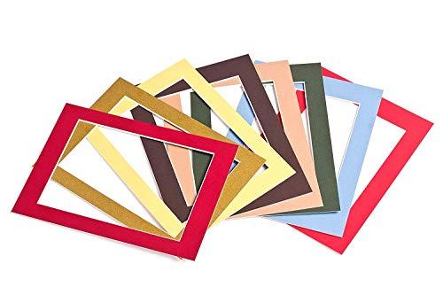 Passepartout-Online Passepartout Säurefrei Premium Qualität 41Farben mit Folie 1,4 mm viele...