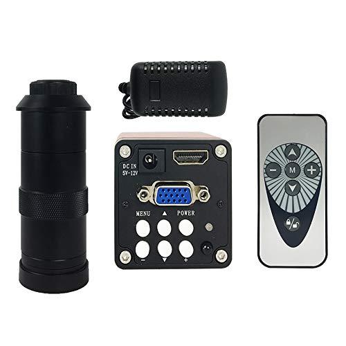 LILICEN CY 22MP HDMI HD USB TF / 14MP HDMI VGA Microscopio Digital Cámara de microscopio + 130x C Monte Lens para el teléfono PCB Soldador Reparación (Color : 14MP with 130X)