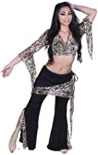 Miss Belly Dance Women's Pera Lycra Top & Pants Costume Set