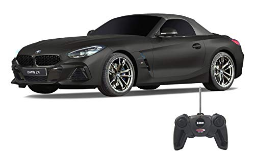 Jamara 405188 BMW Z4 Roadster 1:24 schwarz 27MHz-offiziell lizenziert, bis zu 1 Stunde Fahrzeit bei ca. 7 Km/h, perfekt nachgebildete Details, hochwertige Verarbeitung