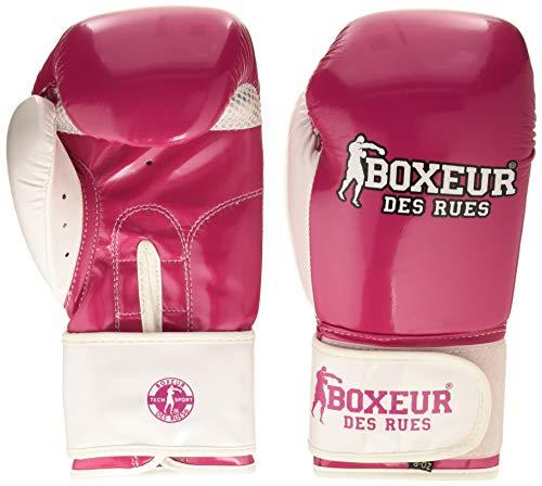 BOXEUR DES RUES Unisex– Erwachsene BXT-5180 Neon-Boxhandschuhe, Fuchsie, 8 OZ