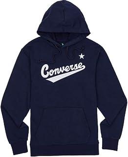 Converse Men's 10017675-A04_L Sweatshirt, Navy, L