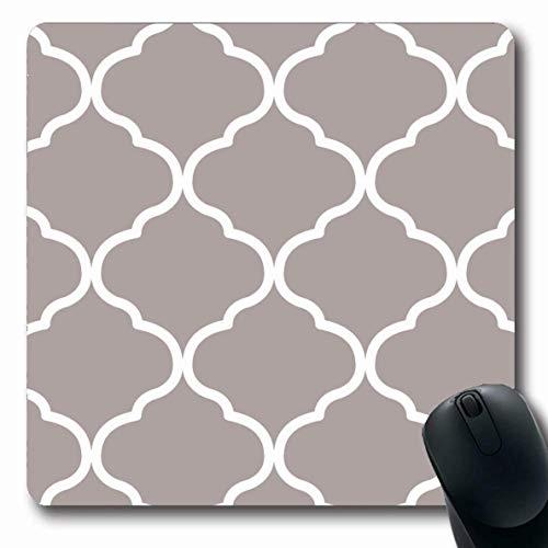 Mausemat Marokkanische Texturen Spalier Modisches Muster Mode Stilvolle Fliesen Textur Beauty Designer Gemalte Laptop-Computer Mousepad Langlebige Büromausmatte Benutzerdefinierte