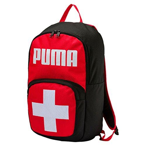 Puma Swiss Mochila Poliéster Negro, Rojo, Blanco - Mochila para portátiles y netbooks (Poliéster, Negro, Rojo, Blanco, Imagen, Unisex, Bolsillo Frontal, Cremallera)