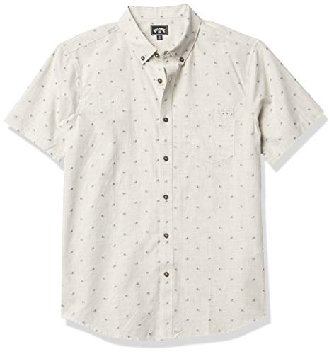 Billabong Herren All Day Jacquard Short Sleeve Woven Shirt Button Down Hemd, Chinese, X-Groß