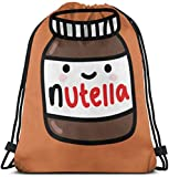 NINGXIE52365 Tumblr Nutella 3D Print Drawstring Backpack Rucksack Shoulder Bags Gym Bag for Adult 16.9'X14'