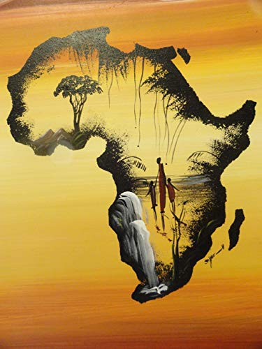 Tdybk Puzzle Giocattolo educativo 1000 Pezzi Puzzle Puzzle Adulto 75 * 50 cm Mappa Africa Puzzle per Bambini per Regali creativi Decorazioni per la casa