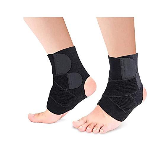 Lazzon 2 Pezzo Supporto Caviglia per Uomo Donna Cavigliera Regolabile per Sportiva Dolori Articolari Distorsioni Tendinite Distorsione e Lesioni
