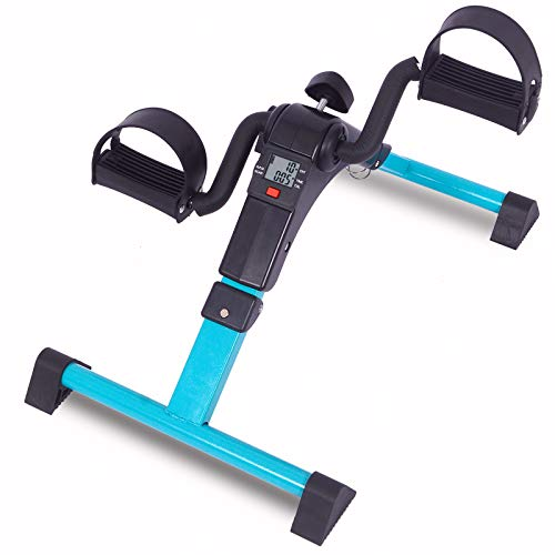 Pedal Exerciser Under Desk Bike Arm and Leg Exercise Peddler Machine with LCD Display