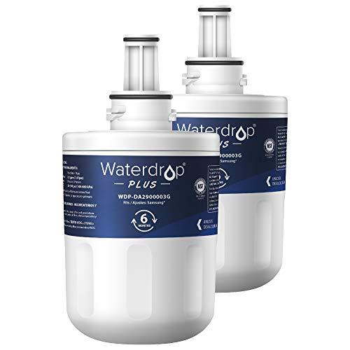Waterdrop Plus NSF 401&53&42 Certified DA29-00003G Replacement Refrigerator Water Filter, Compatible with Samsung DA29-00003G, Aqua-Pure Plus DA29-00003B, HAFCU1, DA29-00003A, Pack of 2