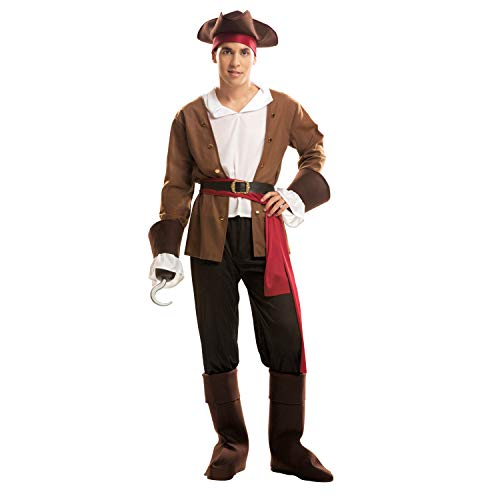 My Other Me Me-200644 Piratas Disfraz de Bucanero para hombre, color marrón, M-L (Viving Costumes 200644)