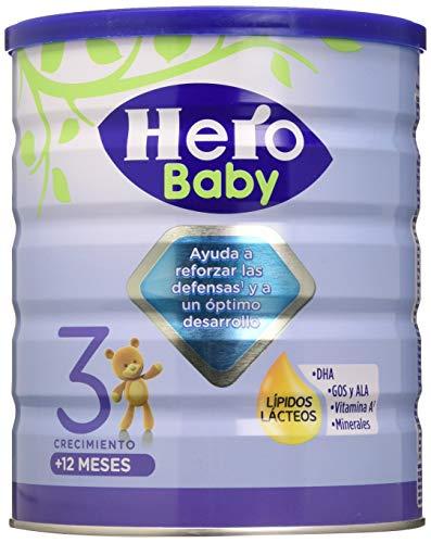 Hero Baby 3 - Leche de Crecimiento en Polvo para Bebés a partir de los 12 Meses - 800 g