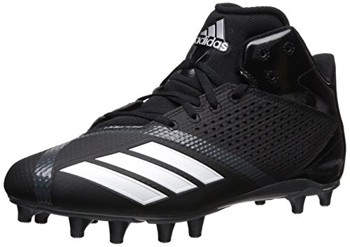adidas Men's Freak X Carbon Mid Football Shoe, Black/White/Ngtmet, 13 M US