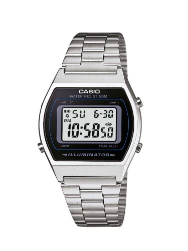 Casio Collection – Unisex-Armbanduhr mit Digital-Display und Edelstahlarmband – B640WD-1AVEF