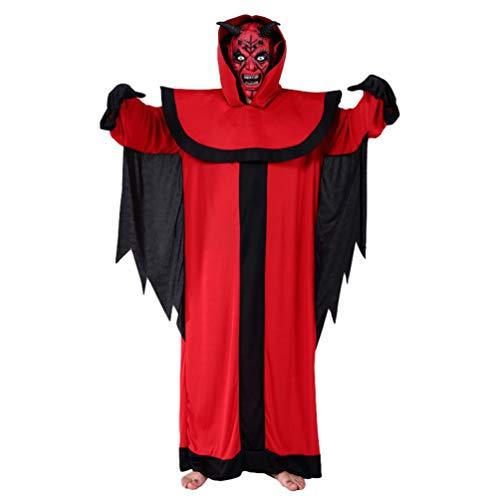 YuanDian Halloween Hombre Disfraces De Vampiro Dracula Capa Pantalones Conjuntos Terror Faciles Gótico Traje De Vampiro Maquillaje Disfraces Carnaval 10# Demonio Rojo Oscuro 170-185