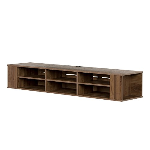South Shore City Life 66' Wide Wall Mounted Console, Natural Walnut