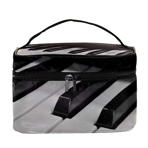 TIZORAX Piano Kosmetiktasche Travel Toiletry Case Große Make-up Organizer Box